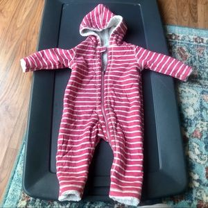 Hanna Anderson 6-12 month Fleece One Piece Coat